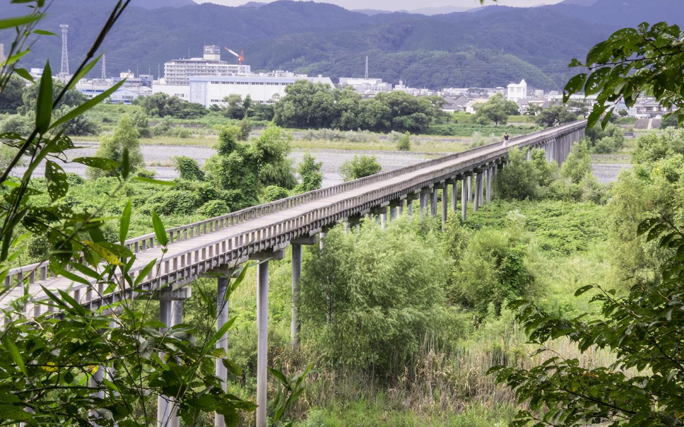 蓬莱橋俯瞰図
