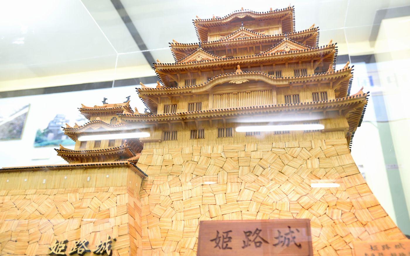 熱海城_マッチ棒の姫路城