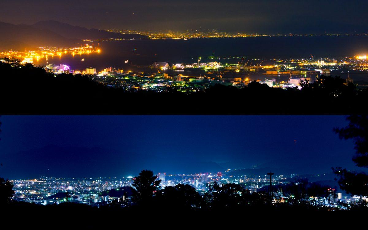 【静岡の夜景】贅沢な夜景スポット「日本平」 清水港と静岡街中の夜景を同時に堪能
